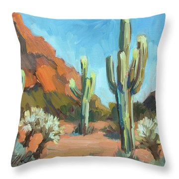 Throw Pillow featuring the painting Gold Canyon by Diane McClary