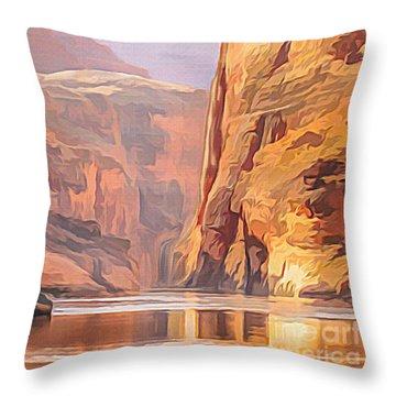 Gold Canyon River Throw Pillow