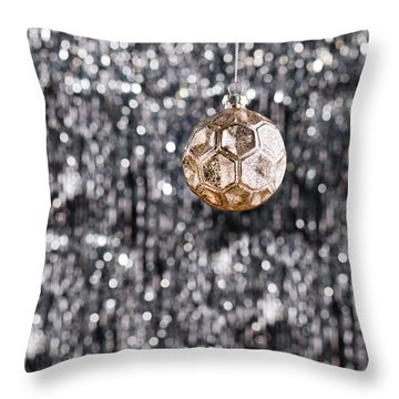 Throw Pillow featuring the photograph Gold Christmas by Ulrich Schade