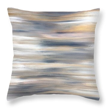 Gold Coast #21 Landscape Original Fine Art Acrylic On Canvas Throw Pillow
