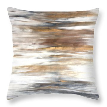 Gold Coast #22 Landscape Original Fine Art Acrylic On Canvas Throw Pillow