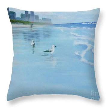 Gold Coast Australia, Throw Pillow by Genevieve Brown