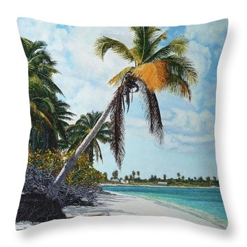 Gold Coconut Throw Pillow