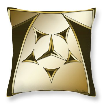 Throw Pillow featuring the digital art Gold Coffee 7 - Chuck Staley by Chuck Staley