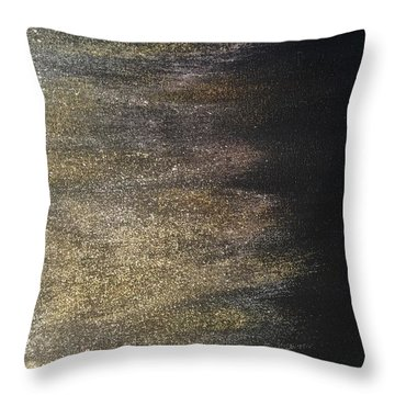 Gold Dusty Night Throw Pillow