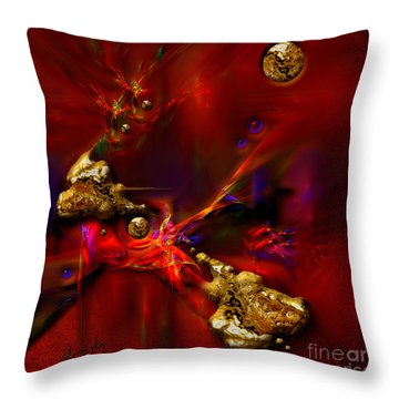 Gold Foundry Throw Pillow