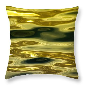 Gold Glimmer Throw Pillow