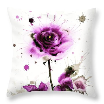 Gold Heart Of The Rose Throw Pillow by Zaira Dzhaubaeva