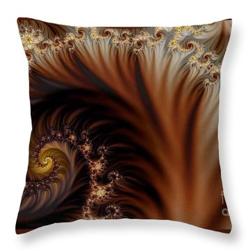 Gold In Them Hills Throw Pillow