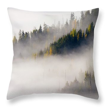 Gold In Them Hills Throw Pillow by Mike  Dawson