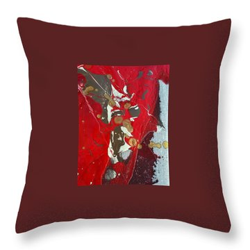 gold inhaling Jaffar Throw Pillow