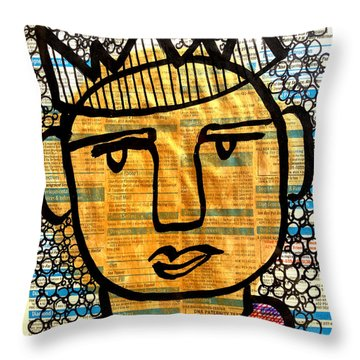 Gold King Throw Pillow