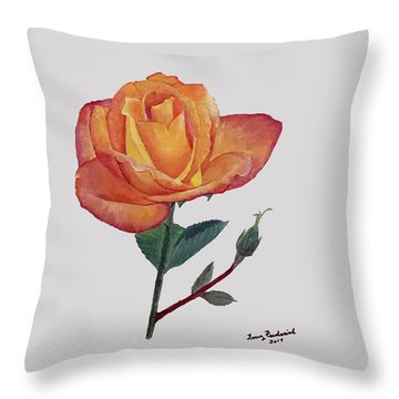 Gold Medal Rose Throw Pillow