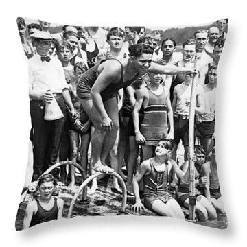 Gold Medalist Warren Kealoha Throw Pillow