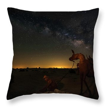 Gold Miner Milky Way 2  Throw Pillow by Scott Cunningham