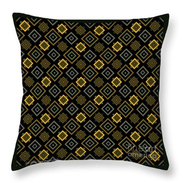 Gold Nights Throw Pillow