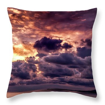 Gold, Orange And Lavender  Throw Pillow