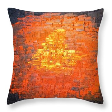 Throw Pillow featuring the painting Gold by Piety Dsilva