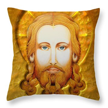 Gold Plate Icon Throw Pillow