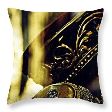 Gold Throw Pillow by Sarah Loft