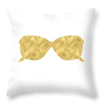 Gold Shades- Art By Linda Woods Throw Pillow