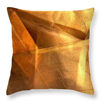 Gold Still Throw Pillow