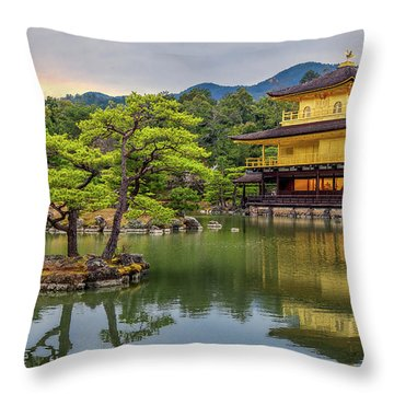 Throw Pillow featuring the photograph Gold Temple,  by Rikk Flohr