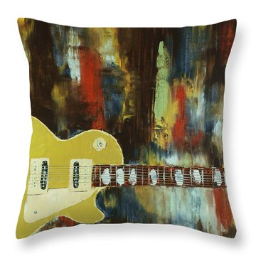 Gold Top Abstract Throw Pillow