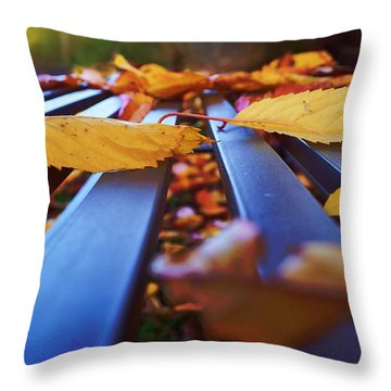 Throw Pillow featuring the photograph Gold Topped Table by Isabella F Abbie Shores FRSA