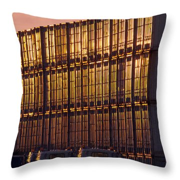 Gold Wall Throw Pillow