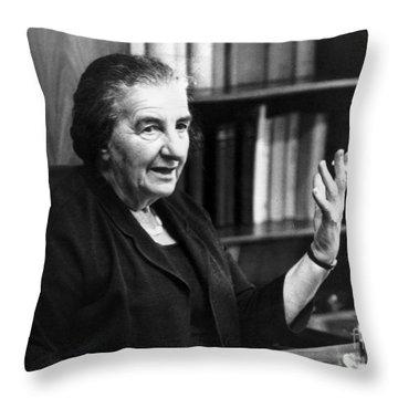 Golda Meir (1898-1978) Throw Pillow by Granger
