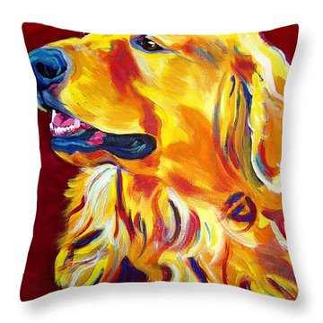 Golden - Scout Throw Pillow
