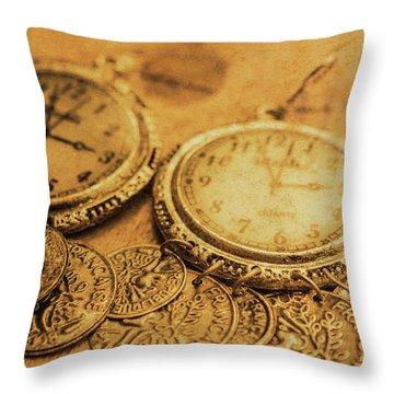 Golden Age Of Fashion Throw Pillow