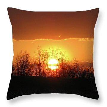 Golden Arch Sunset Throw Pillow