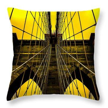 Golden Arches Throw Pillow