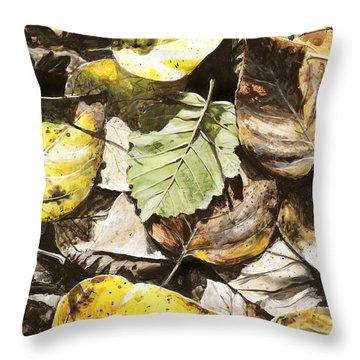 Golden Autumn - Talkeetna Leaves Throw Pillow