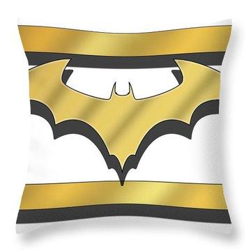 Golden Bat Throw Pillow