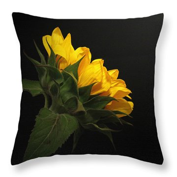 Throw Pillow featuring the photograph Golden Beauty by Judy Vincent