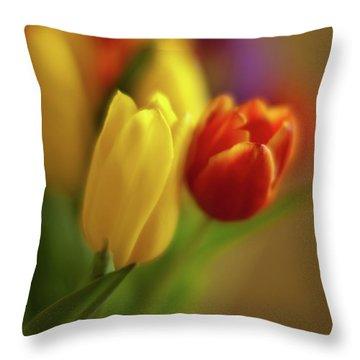 Golden Bouquet Throw Pillow by Mike Reid