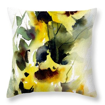 Golden Bow Throw Pillow