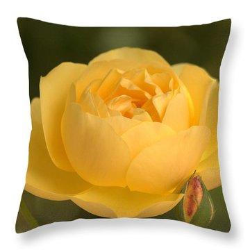 Golden Breath Throw Pillow