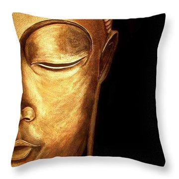 Golden Buddah Throw Pillow