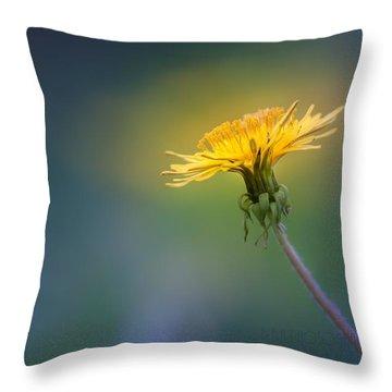 Golden  Throw Pillow by Bulik Elena