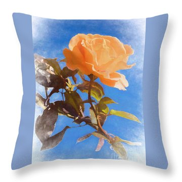 Throw Pillow featuring the photograph Golden Bunny by Elaine Teague