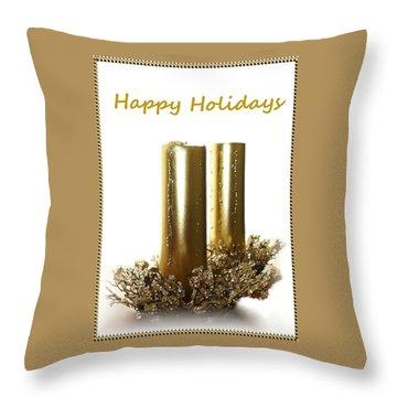 Throw Pillow featuring the photograph Golden Candles by Ellen O'Reilly