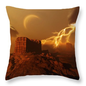 Golden Canyon Throw Pillow by Corey Ford