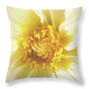 Golden Centre Throw Pillow
