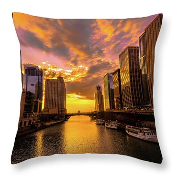 Golden Chi Throw Pillow