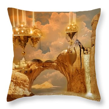 Golden City Throw Pillow