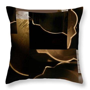 Golden Curves - Throw Pillow